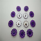 NEW 50PCS plastic crystal round sunflowers Scrapbooking craft / Wedding ZM15