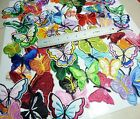 50pcs Embroidered Cloth Iron On Patch Sew Motif Applique butterfly U1