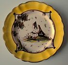 Vintage Hand Made & Painted Plate with Farm Scene, Signed M.G.