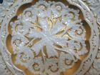 Antique Gold Meissen Dresden Germany Porcelain Heavy Ornate Display Plate