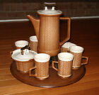 VINTAGE MIRIMAR OF CALIFORNIA POTTERY COFFEE/TEA SET PITCHER MUGS/CUPS CERAMIC