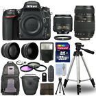 Nikon D750 Digital SLR Camera + 4 Lens Kit 18 55mm VR + 70 300 mm + 32GB Kit