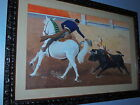 Vtg. 1967 Signed ** F.Guerra ** ''Bull Fighter'' Painting  WOW'' very nice