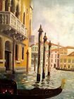 M. Stichlberger 1913 VENICE Original Oil on Canvas Signed Authentic Painting