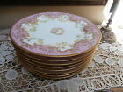 Antique 8 Haviland Limoges Dessert Plates Made for Bailey Banks and Biddle~Roses