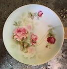 Prov Saxe E S Germany Sweet Pink Roses Gold Trim Plate Shabby Chic Country Chic
