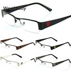 New Khan Clear Lens Metal Frames Glasses Designer Fashion Mens Eyewear RX Black