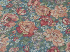 Country Florals by Joan Kessler for Concord BTY Calico Flowers on Blue