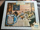 NIB Charles Wysocki 1000 piece puzzle HASBRO And the Thankful Ate a Hearty Meal