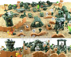 100 pcs Military Plastic Toy Soldiers Army Men Figures & Accessories Playset