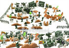 125 pcs Military Plastic Toy Soldiers Army Men Figures & Accessories Playset
