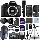 Canon EOS Rebel T6I 750D + 6 Lens 18 55 STM 75 300 50 500 + 24GB PRO KIT