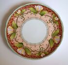Rare Antique Lotus  Royal Rudolstadt Hand Painted Signed Prussia Plate 8.5