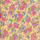 Aunt Grace Classic  Floral  Yellow  Cotton Reproduction  Fabric  MBT BFabric