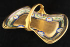 OSBORNE ART DECO LIKE PICKARD PORCELAIN GOLD HAND PAINTED BASKET ARTIST SIGNED