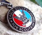 BOY SOUTS EAGLE SCOUT PENDANT PATCH PIN MEDAL SILVER PL INSIGNIA RING W26