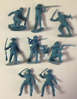 Vintage Marx Western Fort Apache Play Set 54mm Pioneers in Medium Blue UNIQUE