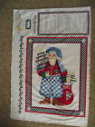 1 PANEL ALMA LYNNE - COUNTRY CLAUS WALL HANGING PANEL QUILT COTTON