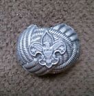 VINTAGE BOY SCOUTS OF AMERICA  EAGLE SCOUT PEWTER SLIDE TIE CLIP/ 1970's