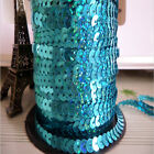 NEW DIY 3 yards 6mm Faceted loose sequins Paillettes sewing Wedding craft  AB05