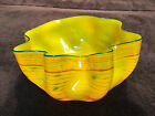 Dale CHIHULY Rare Original Hand Blown Glass Sculpture Signed Macchia Bowl Art