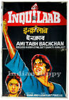 Inquilaab 1984 Amitabh original old vintage Bollywood movie poster *TWO SHEETER*