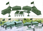 15 pcs Military Tents Weapons Flags Playset Army Men Toy Soldier Accessories