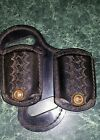 Vintage Ernie Hill Speed Leather dual mag pouch Mod 3FDM 1911