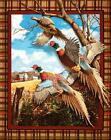 Crested Ringneck Bird Wallhanging Fabric Panel by Springs Creative