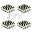 4x Dot-Matrix LED Light Display 3.75mm 8*8 Bicolor Green and Red for Arduiino