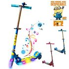 DESPICABLE ME FOLDABLE SCOOTER TODDLER KIDS PUSH KICK 3 WHEEL LED RIDE ON TOY