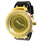 Mens Gold Captain Bling Watch Iced Out Hip Hop Bling Ice Nation Wrist Watch