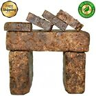 Raw African Black Soap Organic 100% Pure From Ghana 2 oz - 50 lb Bulk Wholesale