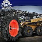 12x165 Sentry Tire 4 Skid Steer Solid Tires w Wheels 33x12 20 for Komatsu
