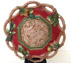 Fitz & Floyd Classic Christmas Lodge Leaves Holly Holiday Platter Dish 10
