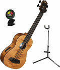 Kala UBass EM FS Exotic Mahogany Acoustic Electric Uke Bass Bundle w Stand