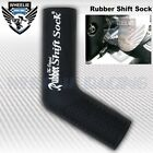 MOTORCYCLE SPORT BIKE SHIFTER SHIFT SOCK SHOES & BOOTS PROTECT SCUFF DIRT BLACK