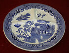 Antique Petrus Regout Maastricht Blue Willow Divided Grill Plate Holland 1800's