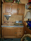 Original Antique Hooiser Baker's Cabinet,  Flour bin, Book racks, Sifter.Table
