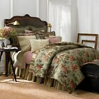 Chaps Brittany KING 3pc Duvet Cover Set Cotton Floral Lilac Peony Blue Green NEW