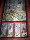 1 PANEL HAPPILY EVER AFTER by JACQUELINE PATON RED ROOSTER saltbox house chicken