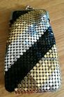 NWT Mesh Gold & Silver & Black 120's Cigarette Snap Case High Quality!