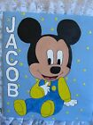 Baby Mickey Personalized Handmade Fabric Lace Photo Album