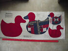 VINTAGE RED CALICO DUCK PROJECT CUT SEW  2 SIZE PILLOW PANEL 100% COTTON