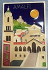 Vietri pottery-6x4inch Tile Amalfi scenery.Made/Painted by hand-Italy