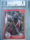1984-85 Star #195 Michael Jordan Rc BGS 6 **Rookie Year Issue** 5.5 7 9.5 9