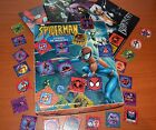 80s VINTAGE MARVEL SPIDERMAN LOTTERY GAME 28 CARDS FIGURES ARGENTINA BOXED RARE