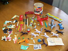 RARE, VINTAGE LOT OF ASSORTED TOYS, HUBLEY KIDDIE TOY AIRPLANE, HORSES, CARS FS