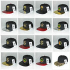 Gold Metal & Crystal Marijuana Dollar Skull Flat Bill Snapback Hat Baseball Cap