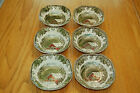 JOHNSON BROS The Friendly Village Covered Bridge soup/cereal bowls (6) England